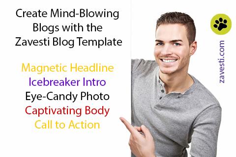 zavesti amazing blog template
