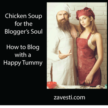 how to blog with a happy tummy